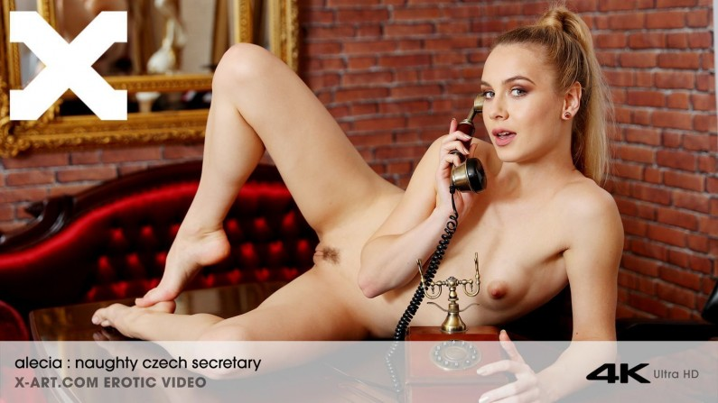 X-Art Alecia Fox Naughty Czech Secretary